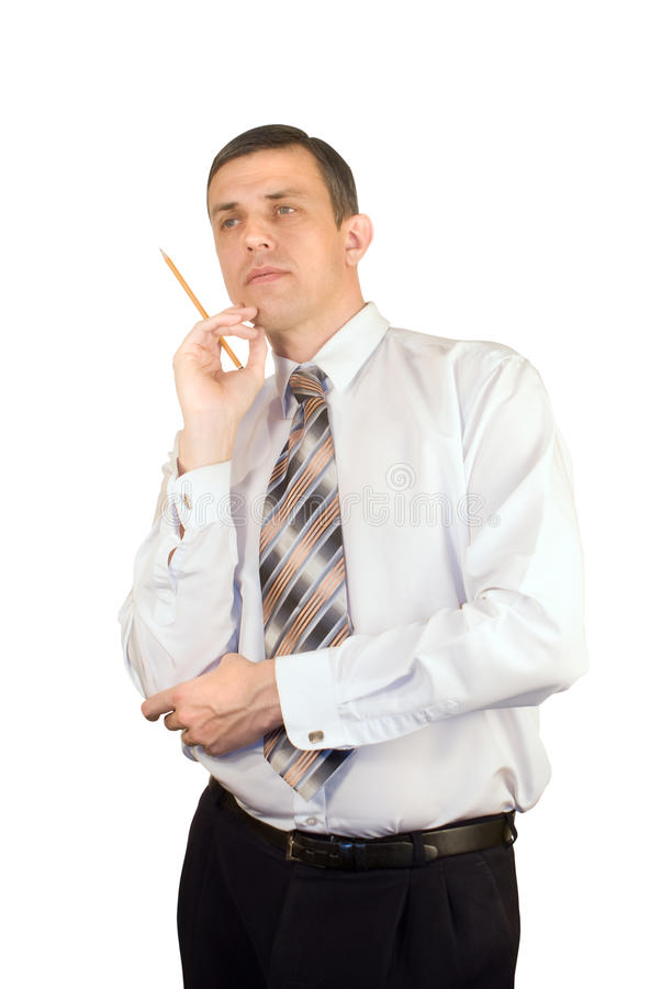 Download The thoughtful manager stock photo. Image of male, happiness - 17812366