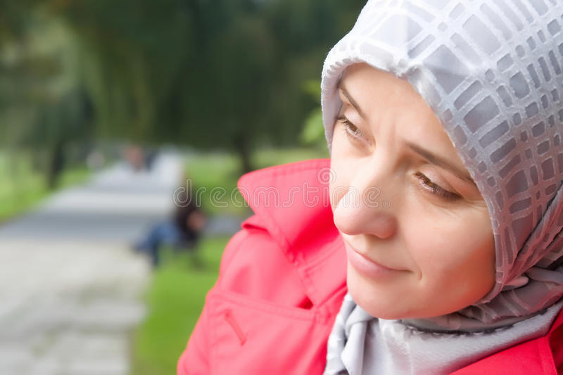 Download Thoughtful muslim woman stock photo. Image of drowsy - 16418762