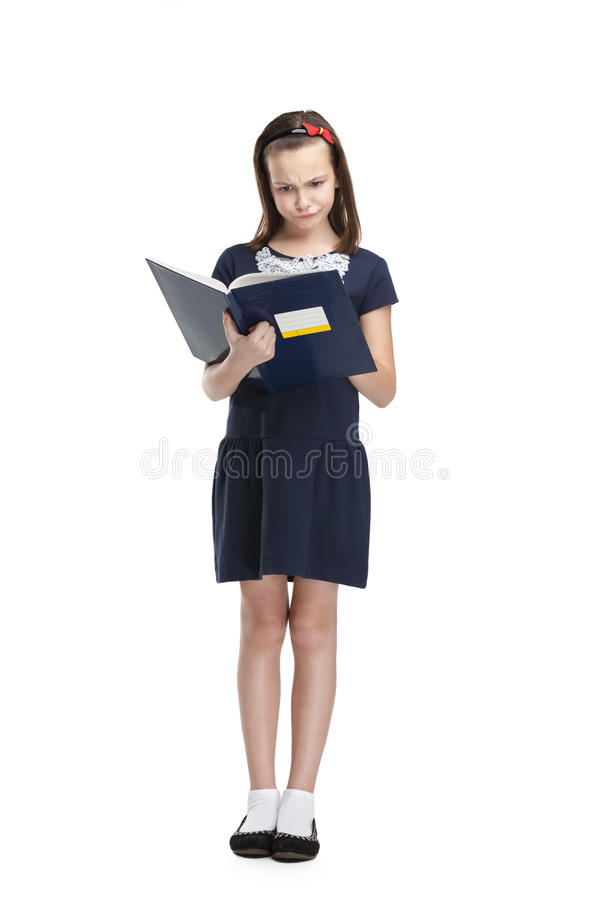 Download Thoughtful schoolgirl stock image. Image of color, education - 26322887