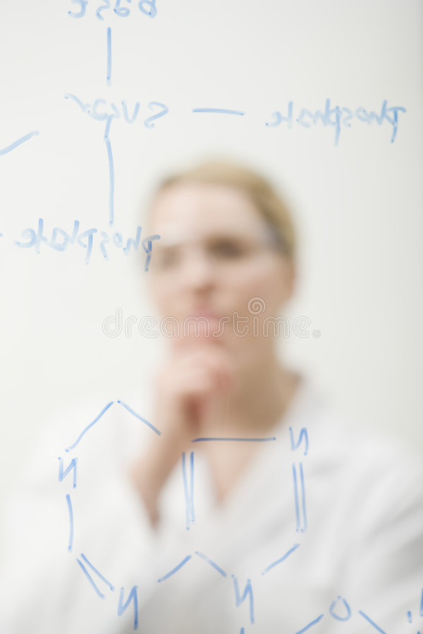 Free Thoughtful Scientist Royalty Free Stock Image - 9168676