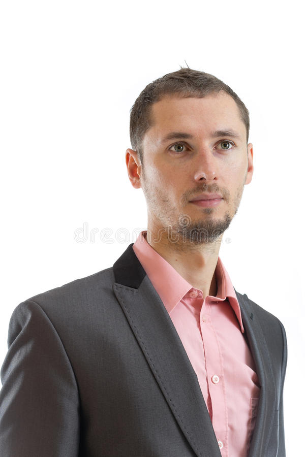 Thoughtful suit tie businessman stock photography