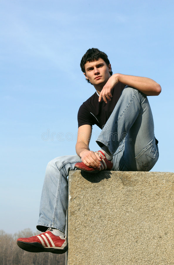 Thoughtful Teenager royalty free stock photography