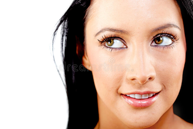 Download Thoughtful woman stock photo. Image of lenses, looking - 23102932