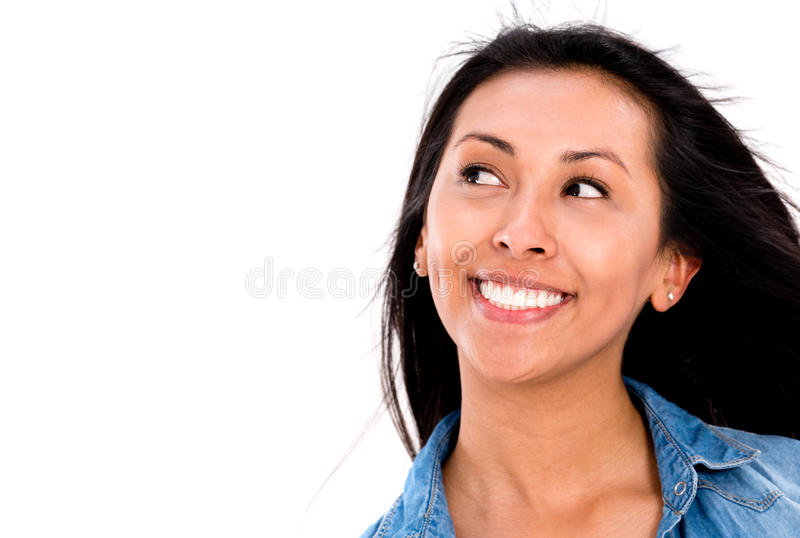 Download Thoughtful woman portrait stock photo. Image of casual - 33213922