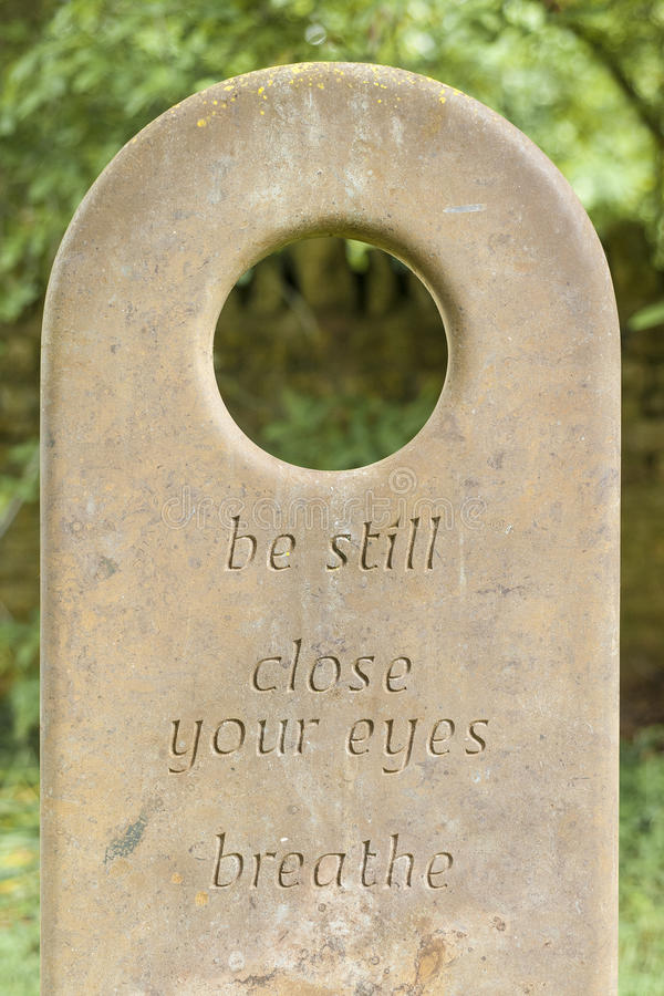 Thoughtful words on a Gravestone royalty free stock photo