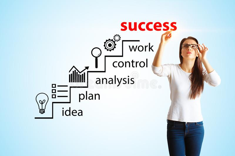 Success and analysis concept royalty free stock photography