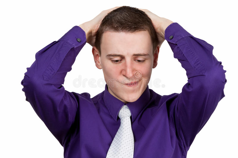 Download Thoughtful young man stock photo. Image of worried, employee - 29680460