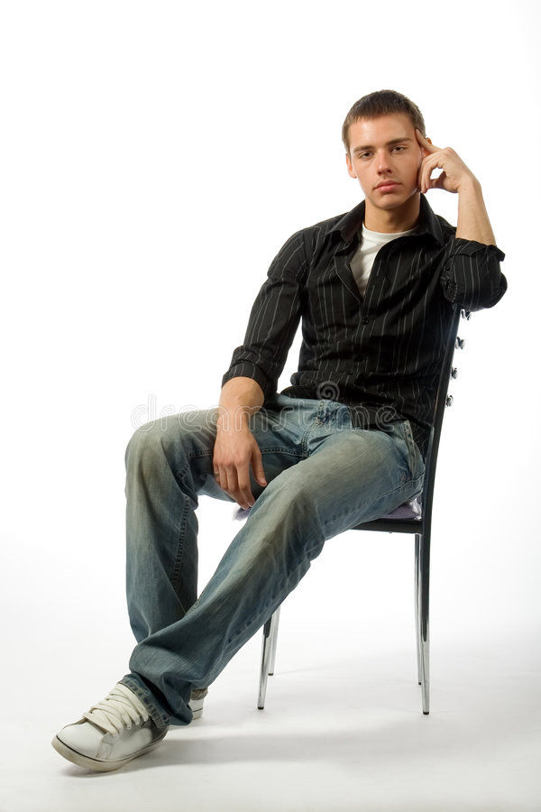 The Thoughtful Young Man Royalty Free Stock Image