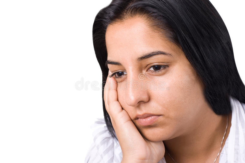 Download Thoughtful young woman stock image. Image of indoor, melancholy - 10969201
