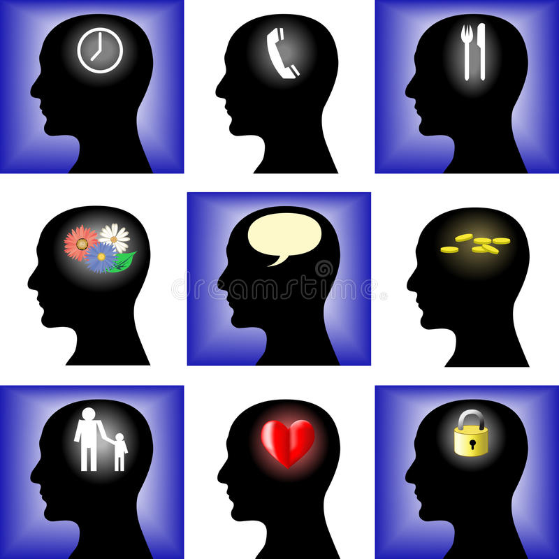 Thoughts stock illustration