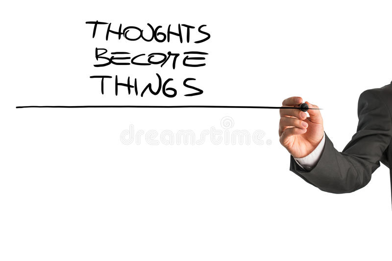 Thoughts become things royalty free stock image