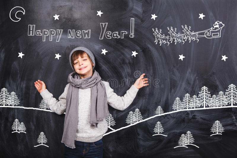 Thoughts about new year royalty free stock photos