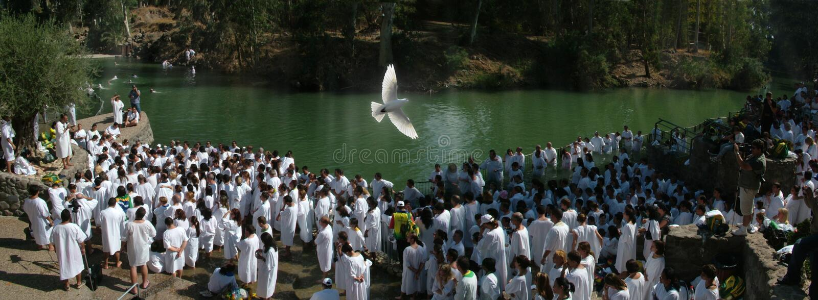 Thousand of Believers preparing to Baptism royalty free stock images