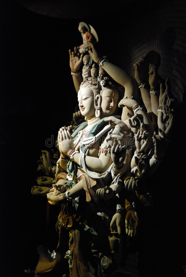 Thousand-hand Bodhisattva royalty free stock images