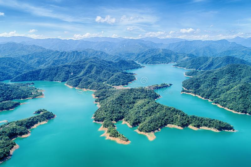 Download Thousand Island Lake Aerial Photography Stock Photo