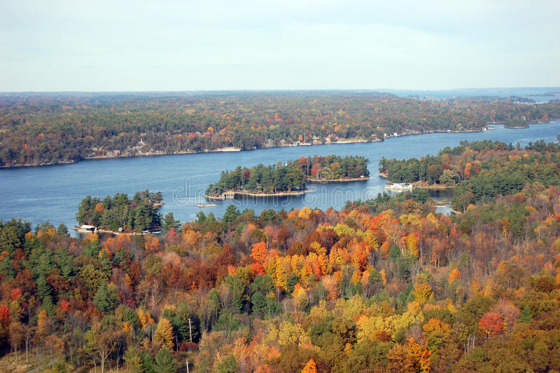 Download Thousand Islands in fall stock photo. Image of forest - 18627936