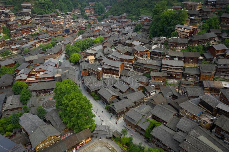 Thousand miao village stock images