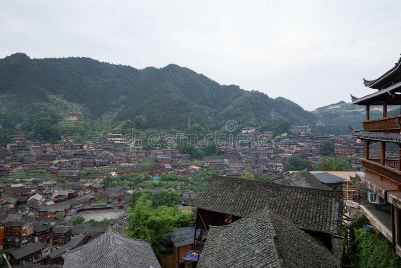 Thousand miao village stock image