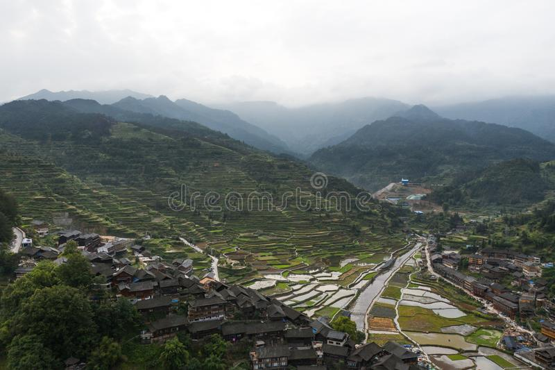 Thousand miao village stock photography