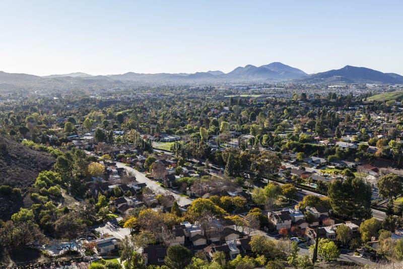 Thousand Oaks Kalifornien bergstoppsikt royaltyfri fotografi