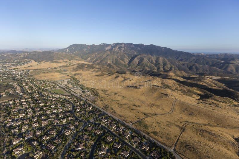 Thousand Oaks Newbury Park Kalifornien antenn royaltyfri foto