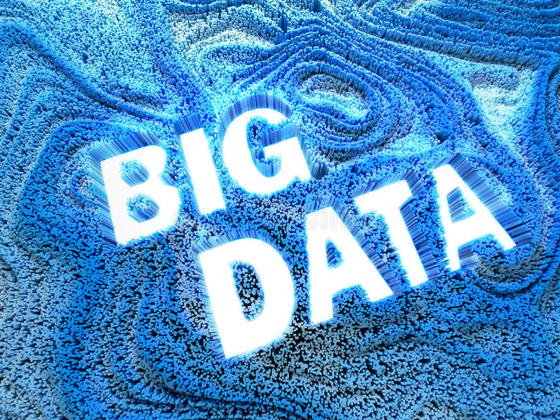 Thousands bar graphs forming words big data. royalty free stock photography