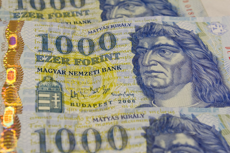 Thousands of forints stock images