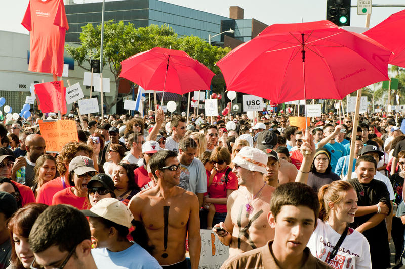 Download Thousands March In West Hollywood For APLA Editorial Image - Image of annual, walk: 21614300