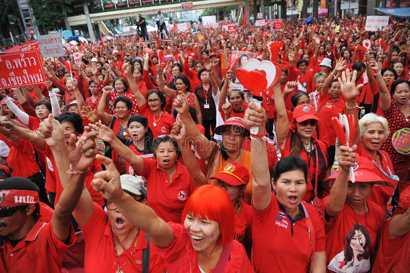 Download Thousands Of Red Shirts Protest In Bangkok Editorial Stock Photo - Image: 31086008