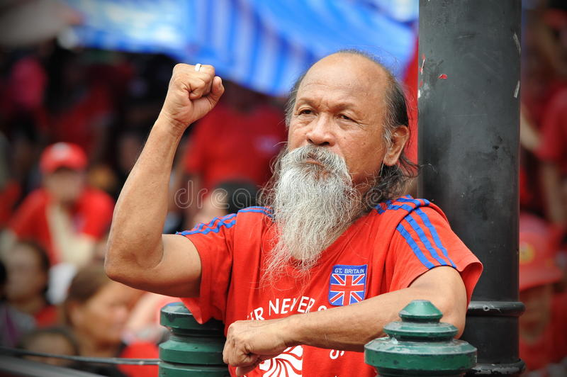 Download Thousands Of Red Shirts Protest In Bangkok Editorial Stock Image - Image: 31097954