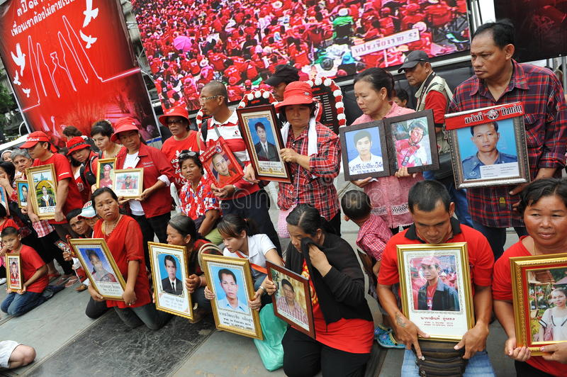 Download Thousands Of Red Shirts Protest In Bangkok Editorial Photography - Image: 31097677