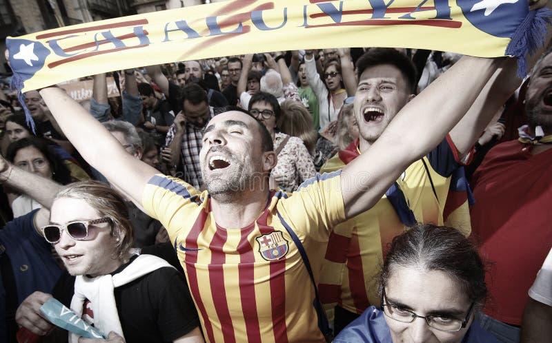 Catalona republic independence day stock photos
