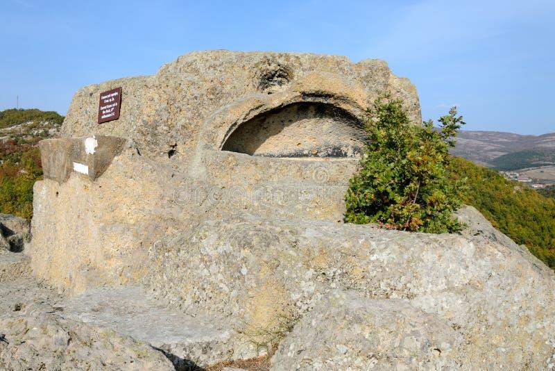 Thracian-Schongebietkomplex nahe Tatul, Bulgarien lizenzfreie stockbilder