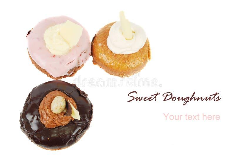 Thre Doughnuts Stock Image