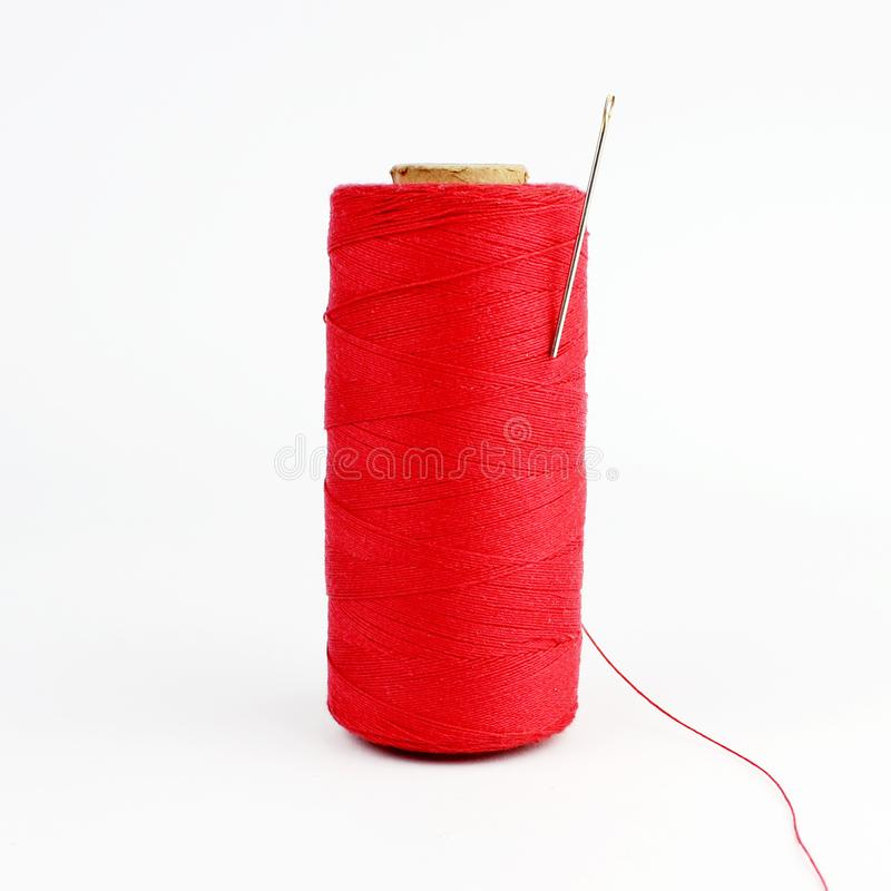 Thread and needle stock images