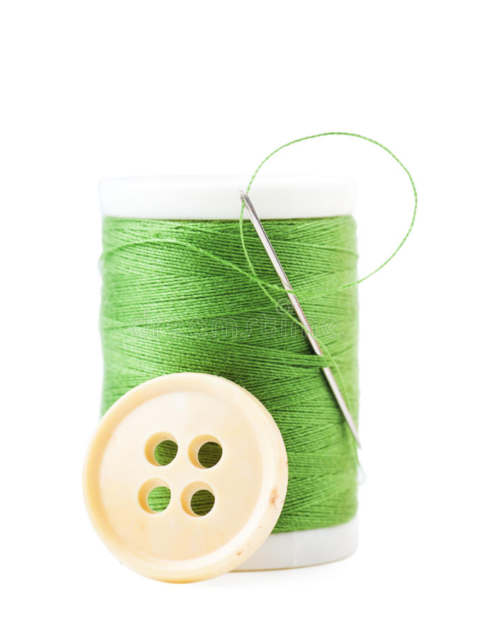 Download Thread spool stock photo. Image of green, button, nobody - 26112336
