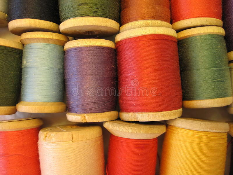 Thread spool stock image