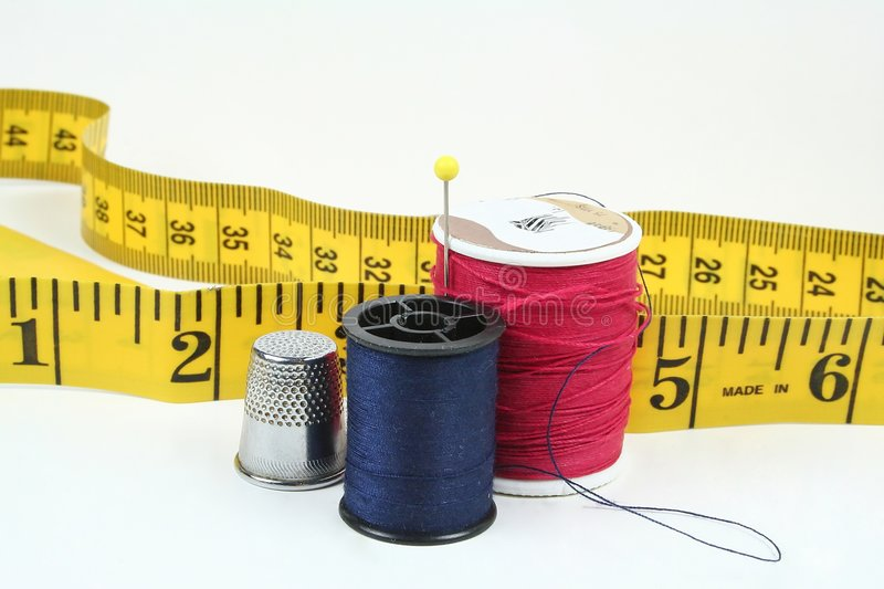 Download Thread and tape stock image. Image of stitch, bend, cotton - 3323053