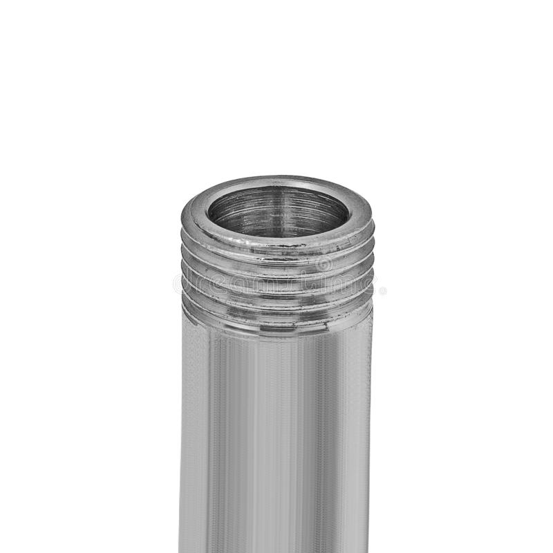 Threaded pipe isolated on white royalty free stock image