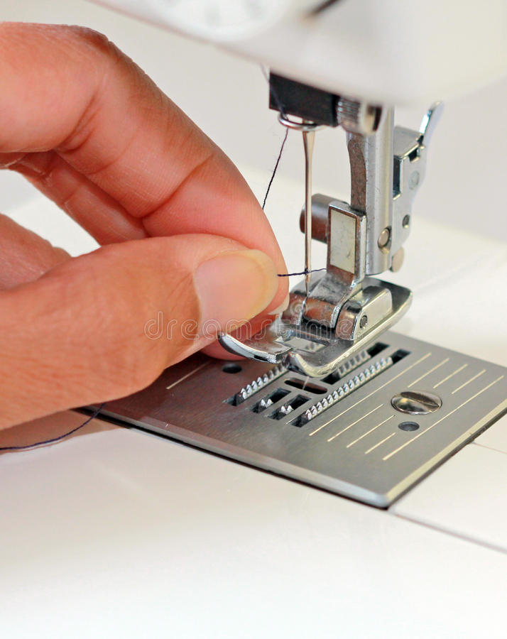 Download Threading a Needle stock photo. Image of sewing, machine - 15089970
