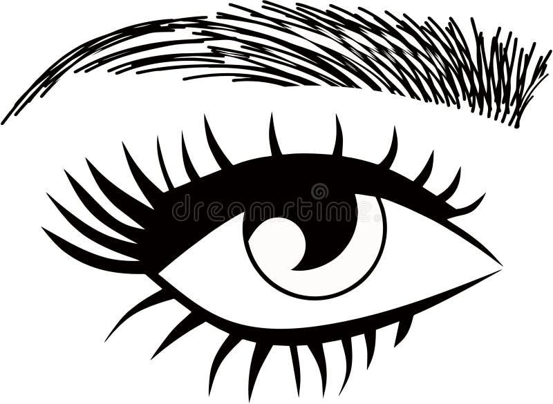 Threading Salon logo. Eyebrows hair strokes permanent makeup vector illustration
