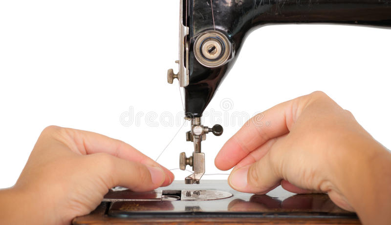 Download Threading A Vintage Sewing Machine Stock Image - Image: 30680157