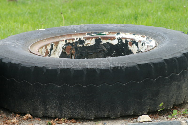 Threadless Reifen stockfoto