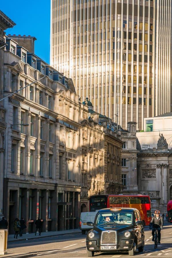 Threadneedle Street, Londra fotografie stock