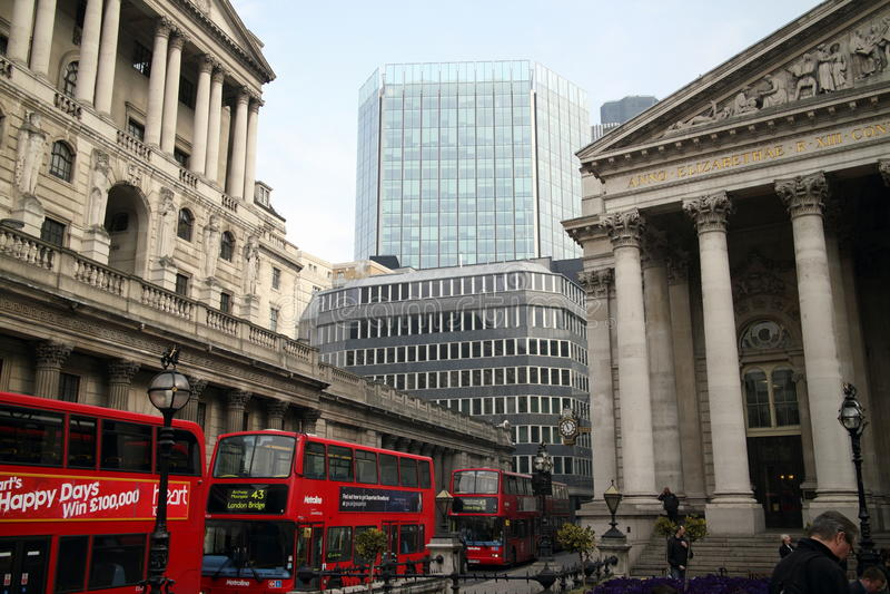 Threadneedle Street Londra fotografia stock