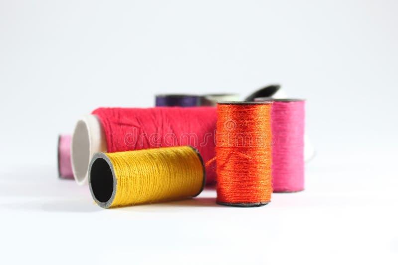 Download Threads stock image. Image of close, thread, orange, macro - 15899685