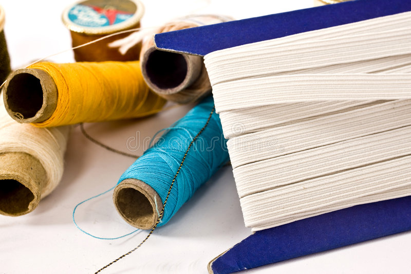 Threads and elastic stock photo