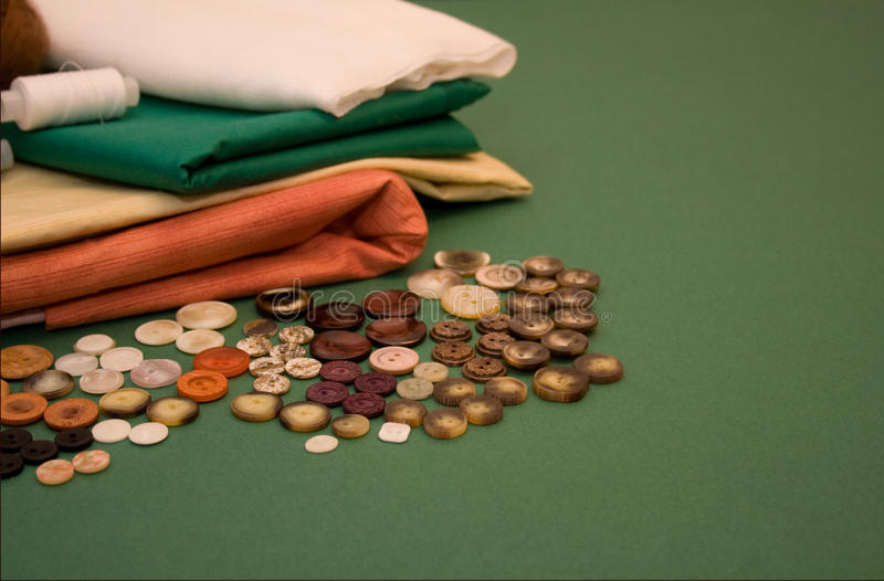 Threads, textile, buttons royalty free stock photography