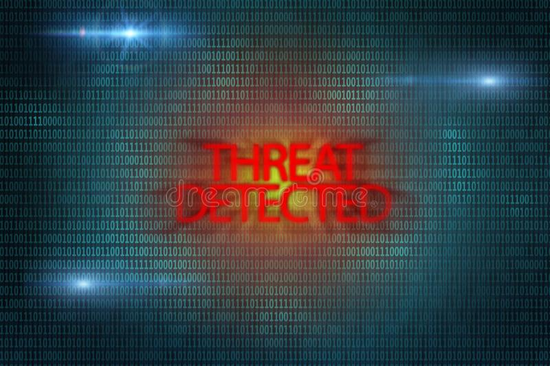 Threat detected sign. Virus attack. Security risk royalty free stock photography