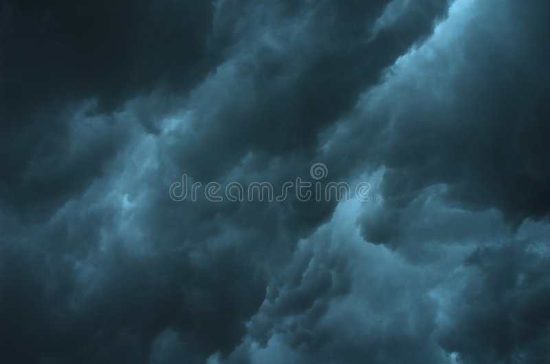 Threatening Sky stock photography